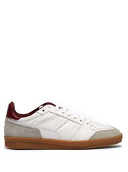 Ami Basket Leather And Suede Low Top Trainers Red White