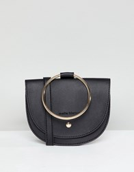 Melie Bianco Vegan Hoop Cross Body Bag Black