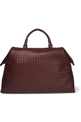 Bottega Veneta Convertible Large Intrecciato Leather Tote Burgundy