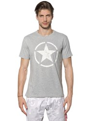 Alpha Industries Star Printed Cotton Jersey T Shirt