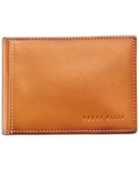 Perry Ellis Men's Leather Front Pocket Rfid Wallet Lugg