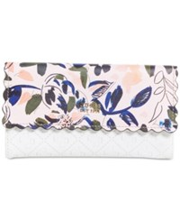 Guess Rayna Floral Wallet White