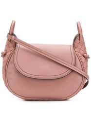 Bottega Veneta Small Saddle Bag Pink