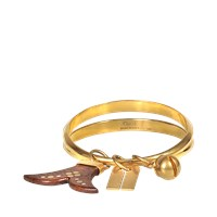 Chloe Janis Brass And Wood Bangle