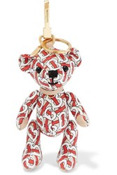 Burberry Printed Leather Bag Charm Red