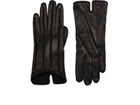 Barneys New York Women's Whipstitched Leather Gloves Black