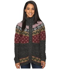 Royal Robbins Mystic Button Cardigan Obsidian Women's Sweater Brown