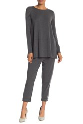 Eileen Fisher Slouch Knit Pants Ash