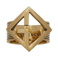 Givenchy Gold Geometric G Ring