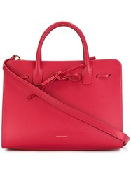 Mansur Gavriel Lace Up Detailing Tote Red