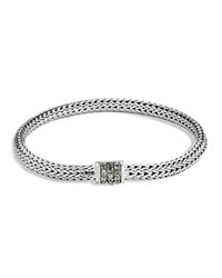 John Hardy Sterling Silver Classic Chain Extra Small Bracelet With Mixed Grey Sapphire Gray Silver