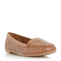 Head Over Heels Hasier Laser Cut Loafers Tan