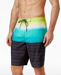 Speedo Men's Pattern Blocked Board Shorts 9 Granite