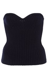 Sea Sweetheart Corset Sweater Navy