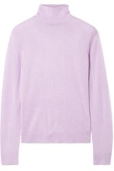 Theory Foundation Silk Blend Turtleneck Sweater Lilac