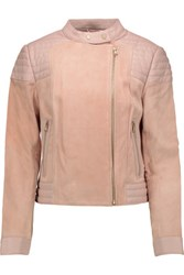J Brand Cardiff Leather And Suede Jacket Blush