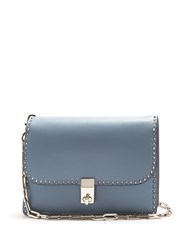 Valentino Rockstud Leather Cross Body Bag Blue