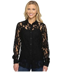 Ariat Lace Snap Shirt Black Women's Long Sleeve Button Up