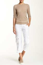 Alice Olivia Rolled Cuff Cargo Pant White