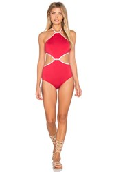 Kate Spade Plage Du Midi Halter One Piece Red