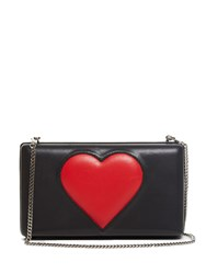 Christopher Kane Heart Leather Box Clutch