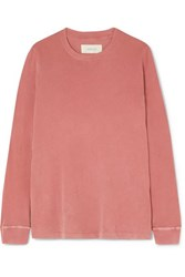 The Great Long Sleeve Cotton Jersey Top Pastel Pink