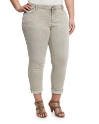 Eileen Fisher Organic Cotton Cuffed Jeans Gray