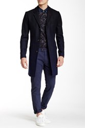 Ted Baker Gains Overcoat Blue