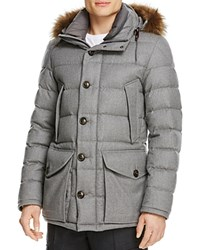 Moncler Rethel Wool Down Quilted Coat Grey