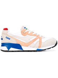 Diadora Chunky Sole Lace Up Sneakers Men Leather Nylon Rubber 9.5 Nude Neutrals
