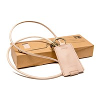 Kreafunk Cchain Leather Charging Cable With Keyring Nude