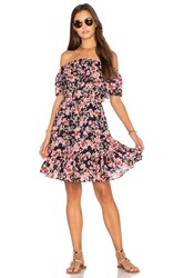Seafolly Nouveau Floral Off Shoulder Dress Black