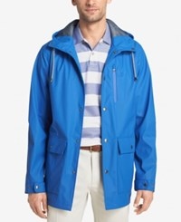 Izod Men's Hooded Wind Slicker Blue