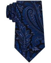 Sean John Men's Updated Paisley Tie Navy