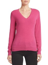 Lord And Taylor Basic V Neck Cashmere Sweater Lavender