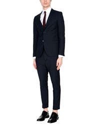 Daniele Alessandrini Homme Suits Dark Blue
