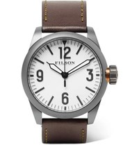Filson Field Stainless Steel And Leather Watch White