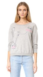 Sundry France To Usa Sweatshirt Heather Grey