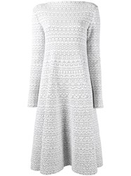 Alaia Patterned Dress White