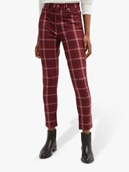French Connection Tilly Check Skinny Jeans Rosso Red