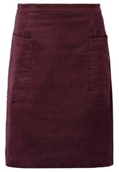 Louche Georgina Mini Skirt Burgundy Bordeaux