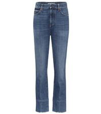 Valentino High Rise Straight Jeans Blue
