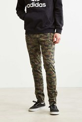 Tripp Nyc Washed Camo Skinny Pant Green Multi