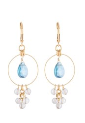 David Aubrey Earrings Goldfarben Blau