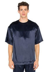 Opening Ceremony Silky Flannel Oversize Tee Navy