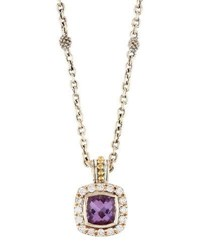 Lagos Prism Amethyst And Diamond Pendant Necklace Purple
