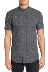 Zanerobe Short Sleeve Print Woven Shirt Black