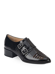 Saks Fifth Avenue Vienna Monk Strap Shoes Black
