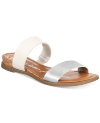American Rag Easten Slide Sandals Created For Macy's Women's Shoes White Silver