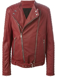 Balmain Biker Jacket Red